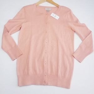 Loft | NWT Light Coral Button Down Cardigan